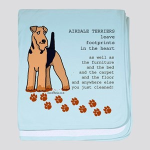 Airedales baby blanket