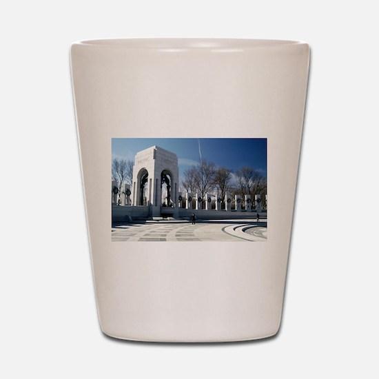 World War II Memorial Shot Glass