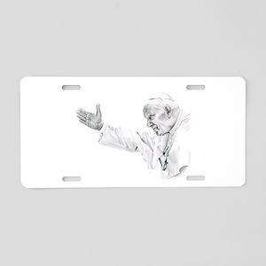 Pope John Paul II Aluminum License Plate