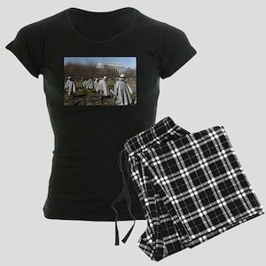 Korean War Memorial Women's Dark Pajamas