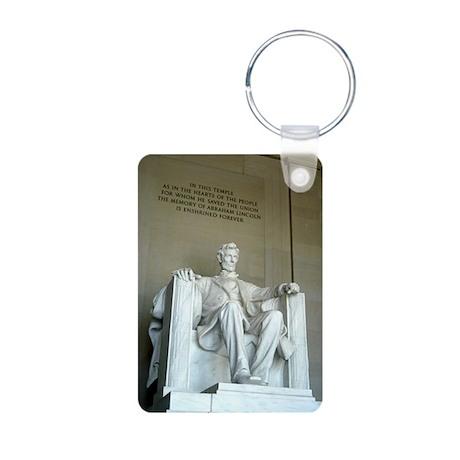Lincoln Memorial Aluminum Photo Keychain