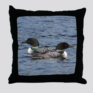 twice the beauty Throw Pillow