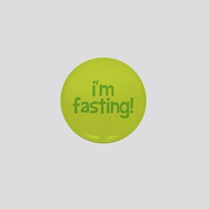 Fasting Mini Button (lime)