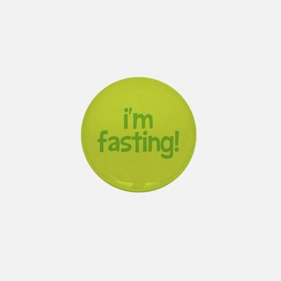 Fasting Mini Button (lime)