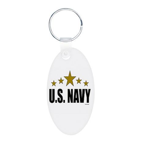 U.S. Navy Aluminum Oval Keychain