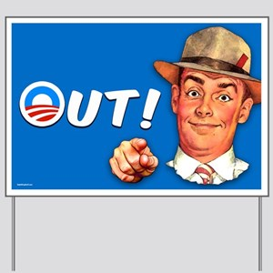 Out! 2 Yard Sign