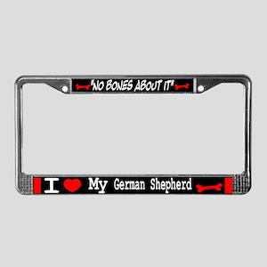 German Shepherd Gifts License Plate Frame