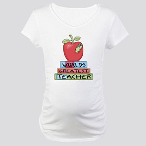 Worlds Greatest Teacher Maternity T-Shirt