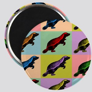 Honey Badger Pop Art Magnet