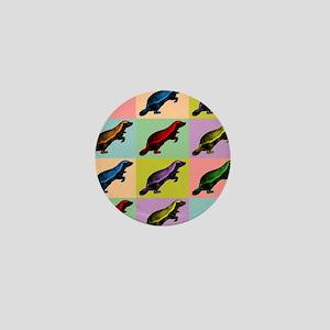Honey Badger Pop Art Mini Button