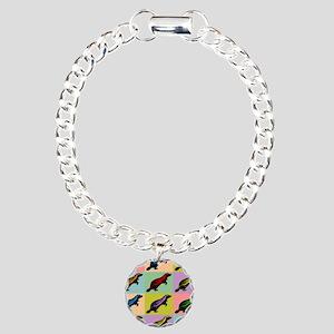 Honey Badger Pop Art Charm Bracelet, One Charm