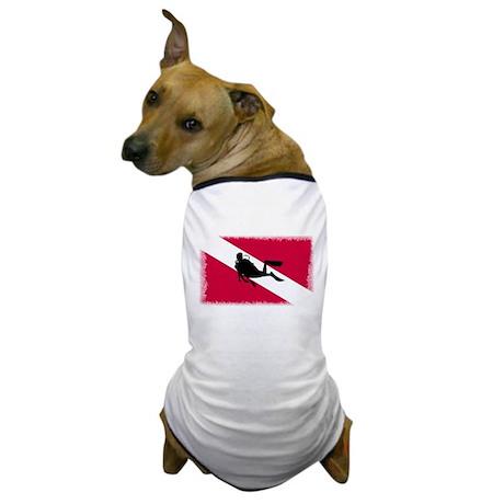 Scuba Diving Flag Dog T-Shirt