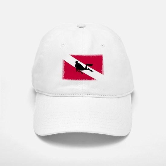 Scuba Diving Flag Baseball Baseball Cap