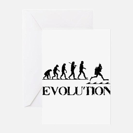 Scuba Evolution Greeting Card