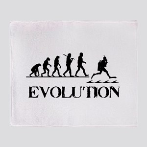 Scuba Evolution Throw Blanket