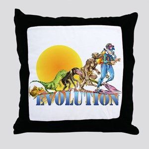 Scuba Evolution Throw Pillow