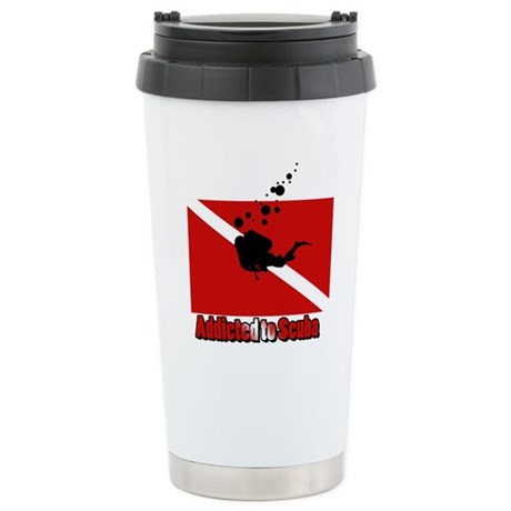 Addicted to Scuba Stainless Steel Travel Mug