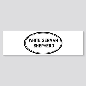 White German Shepherd Bumper Sticker