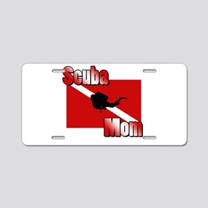 Scuba Mom Aluminum License Plate
