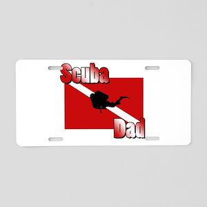 Scuba Dad Aluminum License Plate