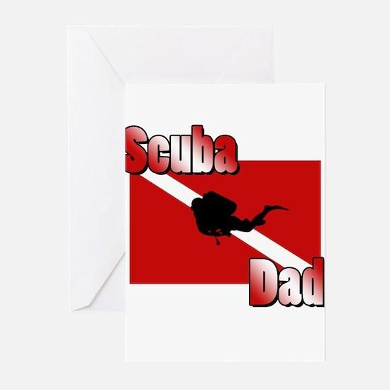 Scuba Dad Greeting Cards (Pk of 20)