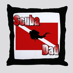 Scuba Dad Throw Pillow