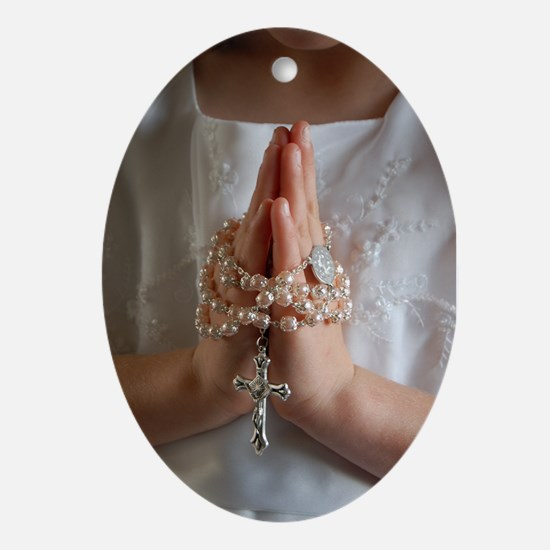 My First Communion Oval Ornament