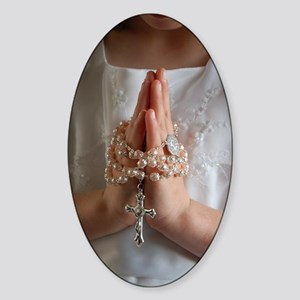 My First Communion Oval Sticker