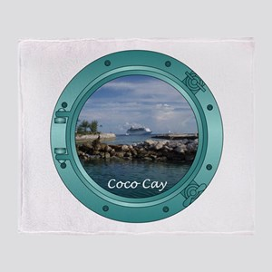Coco Cay Cruise Ship Throw Blanket