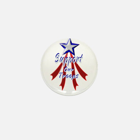 Support the Troops Mini Button
