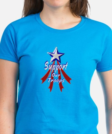 Support the Troops Women's Dark T-Shirt