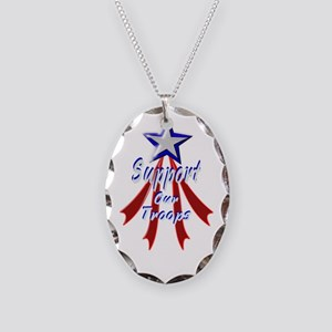 Support the Troops Necklace Oval Charm
