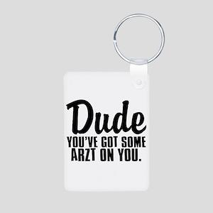 Dude Hurley Aluminum Photo Keychain