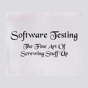 Software Testing Throw Blanket