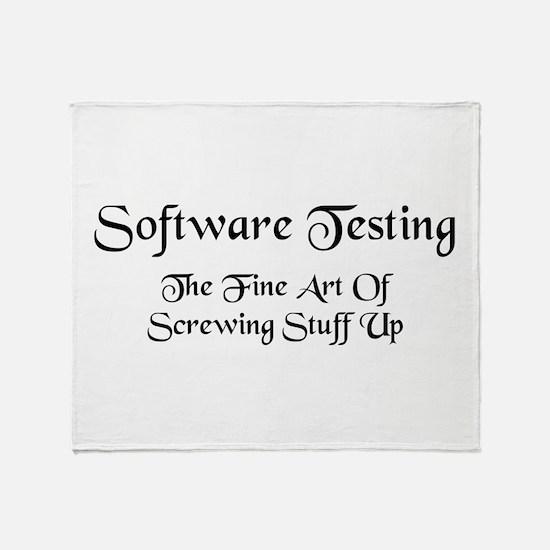 Software Testing Throw Blanket