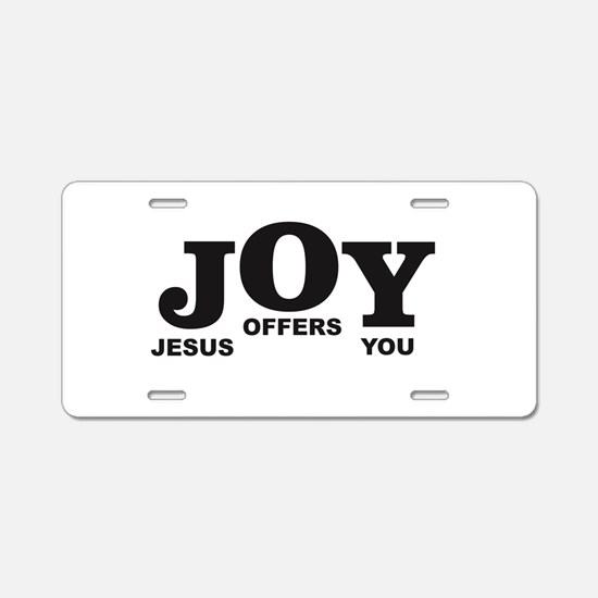 Jesus offers you step Aluminum License Plate