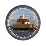 Duluth Harbor South Pier Light Wall Clock