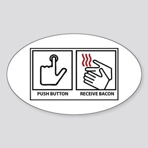 Push Button Receive Bacon Sticker (Oval)