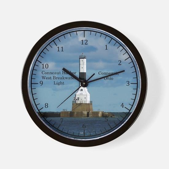 Conneaut Harbor West Breakwater Light Wall Clock