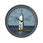 Frankfort North Breakwater Light Wall Clock
