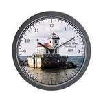 Oswego West Pierhead Light Wall Clock