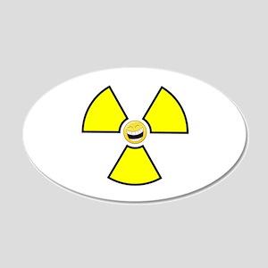 Nuclear Happy 22x14 Oval Wall Peel