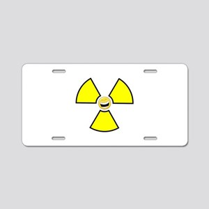 Nuclear Happy Aluminum License Plate