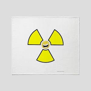 Nuclear Happy Throw Blanket
