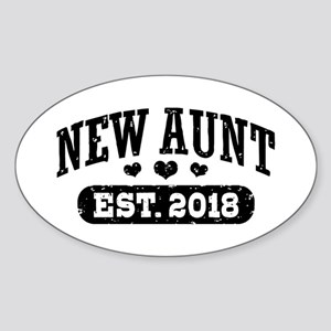 New Aunt Est. 2018 Sticker (Oval)