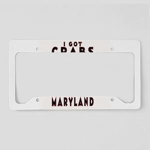 I Got Crabs in Maryland License Plate Holder