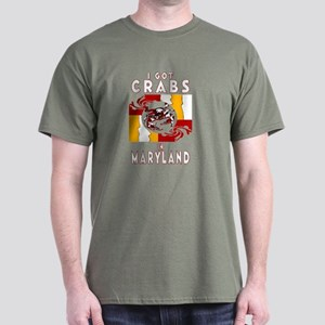 I Got Crabs in Maryland Black T-Shirt