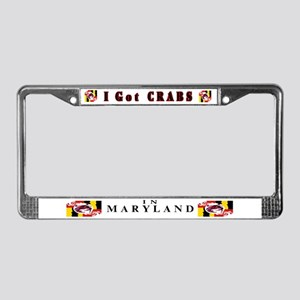 I Got Crabs in Maryland License Plate Frame