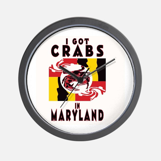 I Got Crabs in Maryland Wall Clock