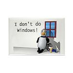 I Don't Do Windows Rectangle Magnet (10 pack)